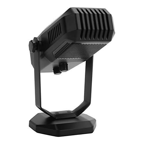 コンピューター コンデンサー マイク、3.5mm プロフェッショナル HiFi ステレオ スタジオ 有線無指向性マイク、ホルダー付き ゲーム ポッドキャスティング カラオケ スピーチ、プラグ アンド プレイ(黒)
