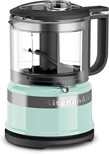 KitchenAid KFC3516AQ 3.5 Cup Mini Food Processor, Aqua Sky Blue (RENEWED) CERTIFIED REFURBISHED