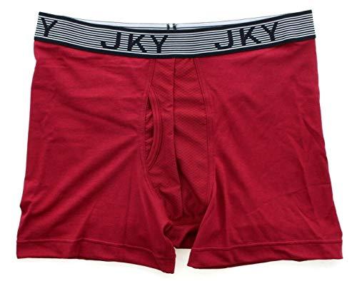 Jockey 5942 Men's Underwear JKY Sport Cotton Boxer Brief, Red, M