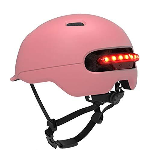 Fenge paardrijhelm, direct helm, waterdicht, voor fietsers, elektrische scooter, scooter, scooter, roze, M (54/58)