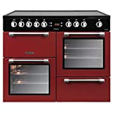 Image of Leisure CK100C210R 100cm Electric Range Cooker - Red