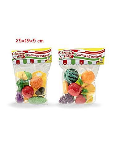 Teorema Giocattoli- Frutta e Verdura con Velcro, Multicolore, 3.TE65530