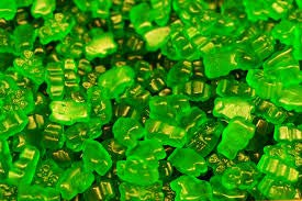FirstChoiceCandy Albanese Gummy Bears (Green Apple, 1 LB)