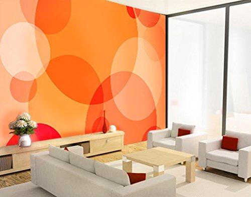 Apalis Selbstklebende Fototapete Havanna Lounge Tapete Kreise Bunt Orange Abstrakt, Größe:270cm x 72cm