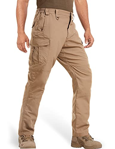 MAGCOMSEN Cargo Pants for Men with Pockets Quick Dry Work Pants Tactical Pants Men Outdoor Pants Hiking Pants Lightweight Breathable Fishing Pants Khaki