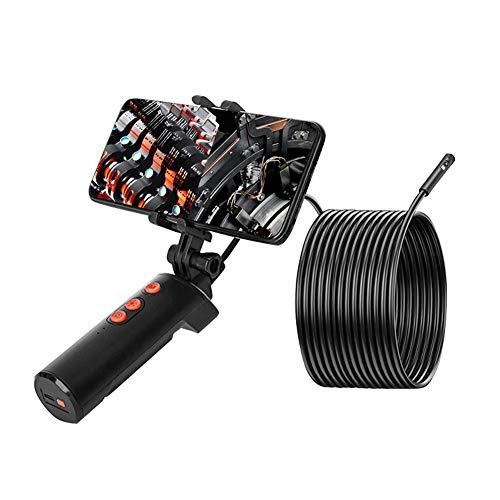TYXS Endoscopio de Doble Lente, endoscopio HD Industrial 1080P, cámara de inspección Digital de 8 LED, Cable semirrígido