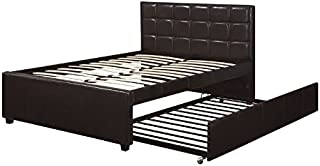 poundex Twin Bed w/Trundle, Brown