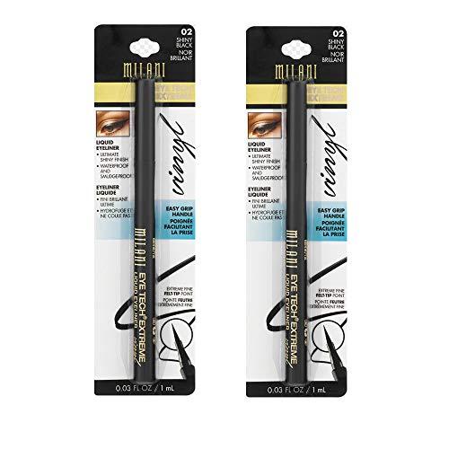 Pack of 2 Milani Eye Tech Extreme Liquid Eyeliner, Shiny Black (02)