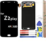 for Moto Z2 Play LCD Screen Replacement Touch Digitizer Display 5.5' for Motorola Z2 Play XT1710 XT1710-01 XT1710-02 XT1710-06 XT1710-07 (Black)