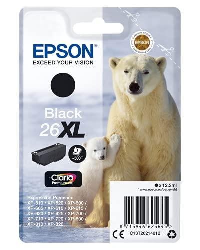 Epson T2621/26XL Negro Cartucho DE Tinta Original C13T26214010