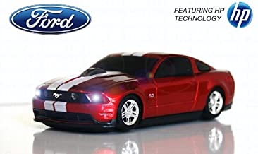 Road Mice Ford Mustang Wireless Mouse - Red/White (HP-11FDMGRXW)