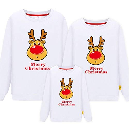 Jersey Navidad Bebe y Mama,Ropa de Navidad Mamá Papá Niños Sudadera de Manga Larga clásica Jumper Familia a Juego Cálido Otoño Casual Tops-si_1ps Hombre XL