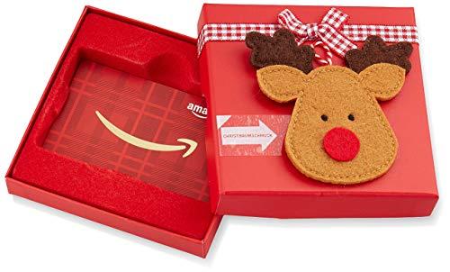 Amazon.de Geschenkkarte in Geschenkbox (Rentier)