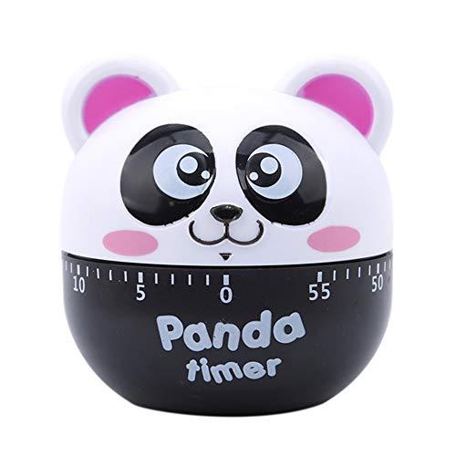 ZFFLYH MEI timer kuchenny, ruchome karykatury pandy, instrukcja mechaniczny timer, gotowanie, odliczanie, budzik, jajko, asystent pieczenia (2 sztuki), kolor czerwony