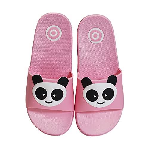 Badelatschen Kinder Badeschuhe Jungen Badelatschen Mädchen rutschfeste Badeschlappen Weich Pantoletten Hausschuhe Sommer Strand Sandale Slipper EU30-31=Etikettengröße:31-32 D-Pink