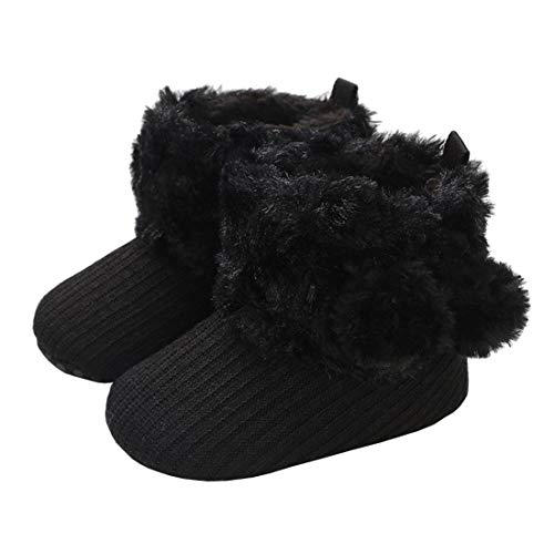 MOFEEDOUKA Baby Boys Girls Boots Soft Warm Fur Snow Winter Infant Toddler Slip On Booties