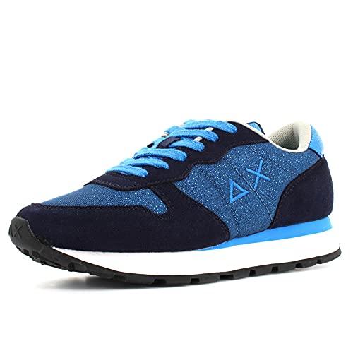 Sun 68 Sneakers Donna Modello Ally Thin Glitter Colore Blu Navy (Numeric_38)