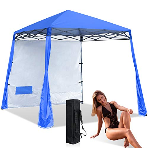 ABCCANOPY Beach Canopy Popup Canopy Tent Super Compact Sun Shelter Canopy Outdoor Instant Shelter,Royal Blue