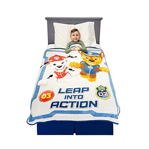 Nickelodeon Paw Patrol Kids Ropa de Cama Ultra Suave de Felpa, Gris/Azul, 1.1 x 1.5 m, 1