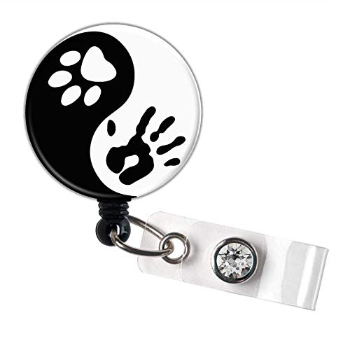 Uplifting Badge Reel Nurse Retractable ID Badge Veterinarian Stethoscope ID Lanyard Badge Reel Littmann Stethoscope Tag