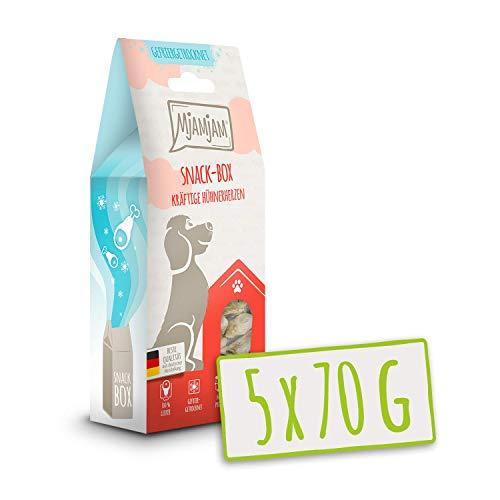 MjAMjAM - Premium Snackbox für Hunde - kräftige Hühnerherzen, 1er Pack (1 x 70 g)