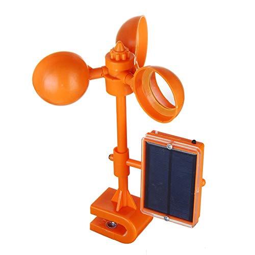 Répulsif à ultrasons durable avec capteur solaire pour oiseaux - Appareil de conduite contre les pigeons et corbeaux - Répulsif pour pelouses - Répulsif pour oiseaux - Contrôle des oiseaux - Couleur : orange