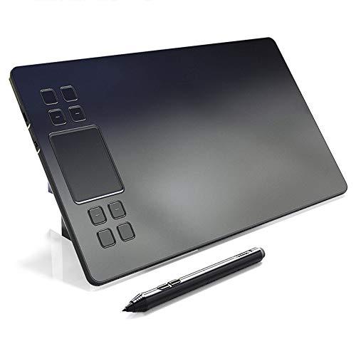 Tableta de dibujo de gráficos Tableta de lápiz digital de dibujo de 10 x 6 pulgadas, pantalla de lápiz de dibujo de gráficos HD con 8 teclas de acceso directo y 8192 niveles Stylus sin batería