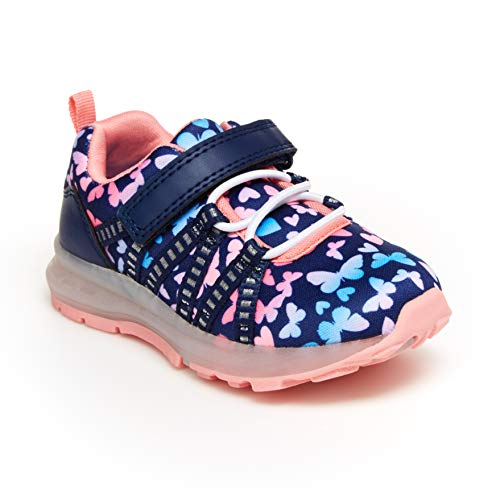 Carter's Girls' Buzz Running Shoe, Print, 11 M US Little Kid