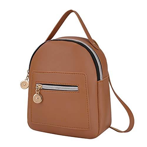 O'vinna Frauen Vintage Tasche Umhängetasche, Handtasche Schultern Kleiner Umhängetaschen Handtaschen, Damen Brusttaschen Handy Messenger Bag Sporttasche (Braun)