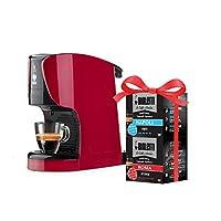 bialetti opera macchina espresso alluminio sistema caffè d'italia, rossa + 32 capsule omaggio, 1450 w, 15 bar, rosso