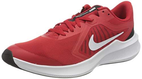Nike Downshifter 10 (GS), Running Shoe Unisex-Child, University Red/White-Black-White, 40 EU