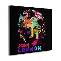 John Lennon ジョン レノン アートパネル フレームレス装飾画 アートフレーム 壁掛け フレームの絵 壁アート 壁飾り おしゃれ パネル絵 ウォール装飾 壁ポスター アートポスター 背景絵画 写真 人気 寝室の飾り キャンバスフレーム ハイクオリティーギフト プレゼント 正方形