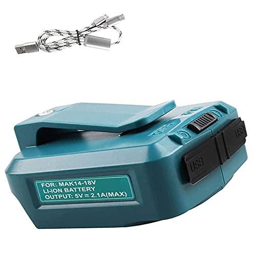 Adaptador de carga Adaptador universal Adaptador de energía 14V -18V Adaptador de carga de USB literario con cable USB 3 en 1 compatible con seguridad ADP05