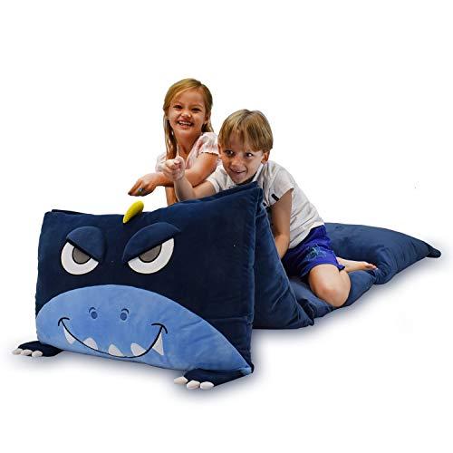Youngeyee - Funda de almohada de dinosaurio para niños, diseño de unicornio, accesorios de camping, tela de terciopelo arcoíris suave y cómoda