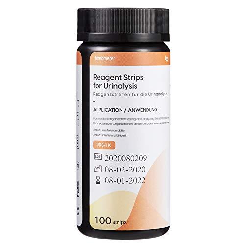 Femometer Ketone Teststreifen, 100 Stück Urin Teststreifen zur Keton Bestimmung im Urin, sofort und genaue Ketose Erkennung mit Referenzfarbkarte für ketogene Ernährung Keto Diät