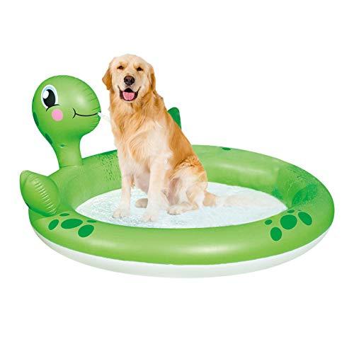 Swide Aufblasbarer Pool Schildkrötenpool Mit Sprinkler Schnell Und Einfach Zu Verdicken Kinder Spielen Teich 180x152x66cm durable