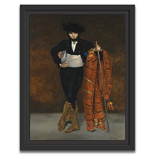 Printed Paintings Marco Americano (70x100cm): Édouard Manet - Joven en el Disfraz de un Majo