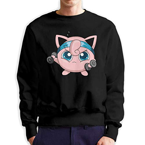 MYHL Men's Jigglypuff Fashionable Casual Style Crew Neck Cotton Sweatshirt Hoodie