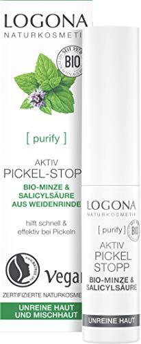 LOGONA Naturkosmetik Aktiv Pickel-Stopp, Bietet schnelle Hilfe bei Pickeln, Wirkt antibakteriell, Vegan, 6ml