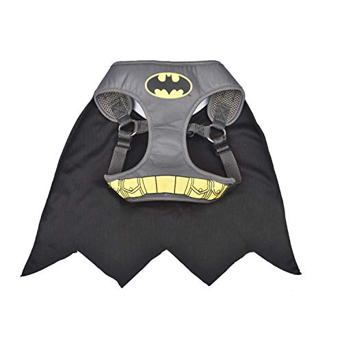 DC Comics for Dogs Batman Superhero Dog Harness, Medium, Gray