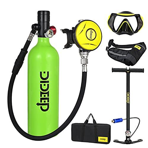 SELMAL Equipo de Oxígeno para Bucear Bombona Oxigeno Portatil Mini Botella de Buceo de 1litro con Capacidad de 15-20 Minutos Buceo De Oxígeno del Mini Tanque