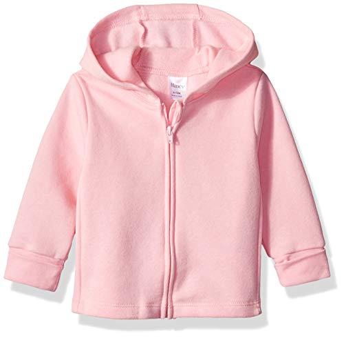 Hanes Ultimate - Sudadera con Capucha para bebé, Rosa Preciosa/congelación Rosa, 12-18 Meses