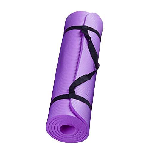 Esteras de yoga Estera de yoga pequeña de 15 mm de grosor y duradera Estera de alfombra antideslizante para principiantes Esteras de gimnasia de fitness ambiental Entrenamiento 60x25cm-Purple_