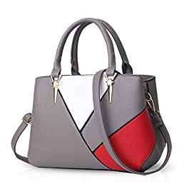 NICOLE & DORIS Sacs à main pour femme des dernières tendances Sac D'épaule de Cuir PU sacs à bandoulière aux couleurs…