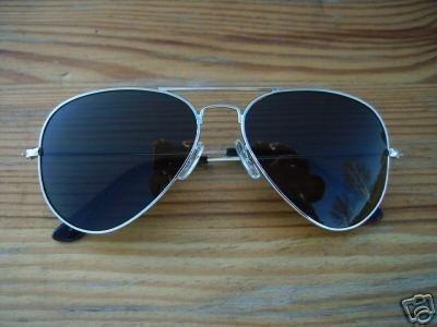 ALPLAND zonnebril, pilotenbril, TOP GUN, glazen XXL, inclusief softbag!