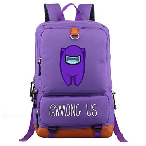 Zzlush Among Us Backpack Bags New Game Among Us Printed Casual Mochila Backpack Mens Women Laptop Backpack Rucksack School Bags Women Men Fashion Hip Hop Outdoor Backpack Middle School Students Bookba