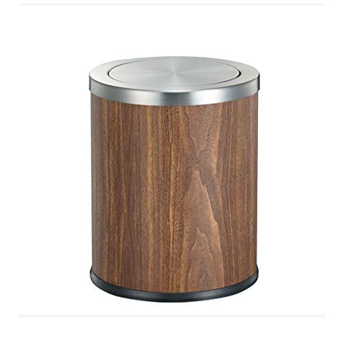 SHYPT Moderne Trash Can - Schlag-Leder-Trash Can Can Große Wohnzimmer Büro mit Deckeln Trash Can Be (Color : A)