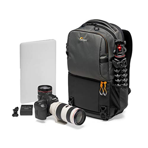 Lowepro Fastpack BP 250 AW III Mirrorless DSLR Camera Backpack with QuickDoor Access and 13 Inch Laptop Compartment DSLR accessories- Camera Bag Backpack for Mirrorless or DSLR - 300D Ripstop - Grey