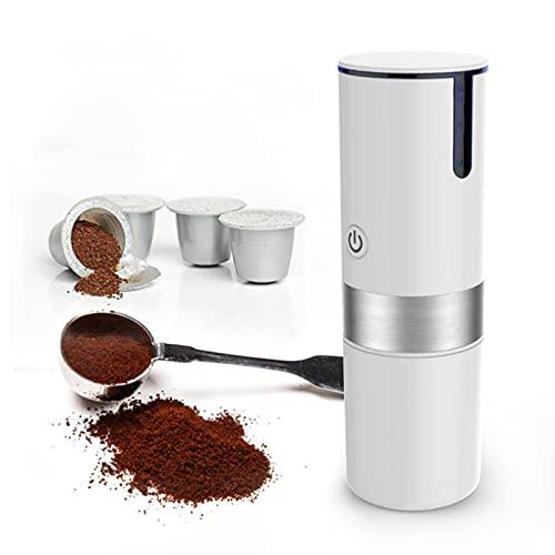 Caffettiera Portatile, Mini Caffettiera Elettrica in Acciaio Inox Macchina Automatica per Capsule di Caffè Macchina per Caffè Monodose, 23 Once, Alimentazione USB/batteria, per L'home Office