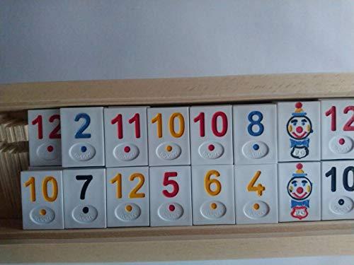 Neu groß Rummikub in handarbeit holz kasten Reise spiel logisches Strategie Familienspiel Brettspiel weißes Stück